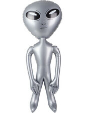 """Outerspace Extra-terrestrial Galaxy Silver Alien Inflatable 36"""""""