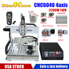 New Listing6040 4axis Cnc Router Engraver Frame Mach3 Usb Wood Milling Engraving Machine Us