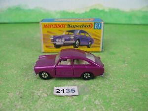 vintage matchbox superfast diecast 67 volkswagen 1600 TL boxed 2135