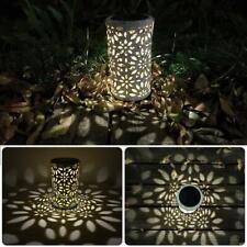 Antique Solar Lantern Indoor Outdoor Metal Light Waterproof Garden LED Deco Lamp