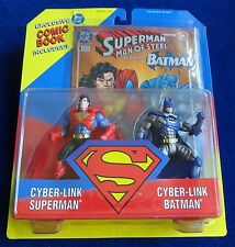 "KENNER ""CYBER-LINK SUPERMAN & CYBER LINK BATMAN"" 2 FIGURE SET NEW/UNOPENED 1995"