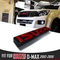 PART LOGO RED EMBLEM BADGE DECAL PLATE STICKER GRILLE ISUZU D-MAX DMAX 2012-2014