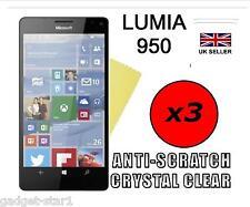 3x Hq Cristal Clair Protecteur d'écran Cover Film Garde pour MICROSOFT LUMIA 950