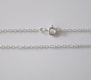 ANY LENGTH 925 Sterling Silver Fine Trace Necklace 1.5mm Wide Chain