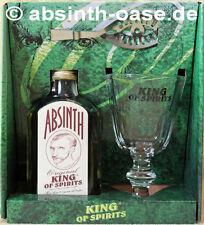 KING OF SPIRITS ABSINTH GESCHENKSET, FLASCHE - LÖFFEL - GLAS