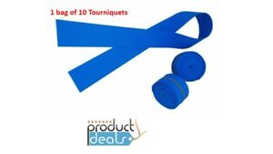 "10pcs Latex Free Disposable Tourniquet, Powder Free, 18""x1"",Synthetic Rubber"