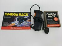 Atari 2600 Omega Race Game w/ Booster Grip and manual Tested/Works . RARE!