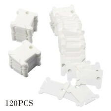 Petift 120 Pieces Plastic Floss Bobbins for Embroidery Floss Organizer