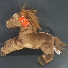 """Flopsie Outlaw Brown Horse Plush Stuffed Animal by Aurora with tag 12"""""""