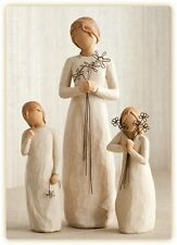 Willow Tree Mother with 2 Daughters Figurines NEW in Boxes