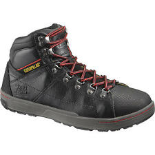 Caterpillar Cat P90189 Men's Brode Steel Toe EH Black Leather Boots SZ 9.5