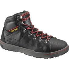 Caterpillar Cat P90189 Men's Brode Steel Toe EH Black Leather Boots SZ 7.5