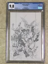 JUSTICE LEAGUE #1 CGC 9.8 JIM CHEUNG 1:250 Pencils ONLY Sketch COVER 2018