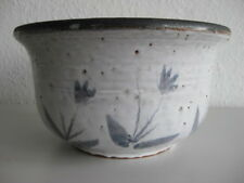 Hübsche hohe Schale aus Keramik Landhaus Handarbeit signiert Pottlach 23 cm