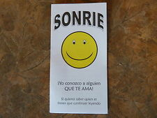 100 Spanish Smile Gospel Tracts - Share your faith - God  -Ships FREE in US