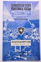 LEICESTER CITY v. SOUTHAMPTON LEAGUE DIVISION ONE 10 SEPT 1966 FILBERT ST.
