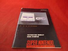 Super Nintendo Console SNES Instruction Manual (French/English - Canadian) #C1