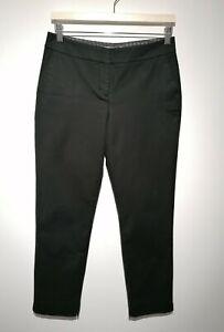 Boden UK 10P Richmond Trousers Black Slim Fit Cotton Blend Formal Work Wear