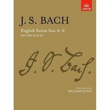 JS Bach English Suites NOS 4-6 BWV 809 810 & 811 ABRSM Piano Sheet Music Book