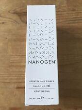 Nanogen Light Brown Shade No.6 Keratin Hair Fibres 30g Expiry 2023