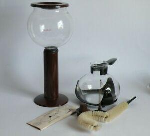 BODUM Santos Kaffeebereiter Kaffeemaschine Vakuum Glas Kunststoff braun