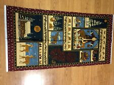 WESTERN COWBOY CACTUS HORSE LONGHORN Brown Cotton MODA Tablecloth 52x52 NWT