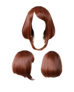 MHA Ochako Uraraka Maroon Cosplay costume Wig for Women Lady Wig
