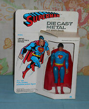 "vintage Mego die cast 5 1/2"" DIECAST SUPERMAN in box"