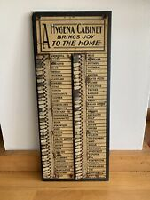 More details for 1930's antique hygena shopping list, metal tabs, household wants list
