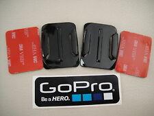 2 x CURVE CURVED HELMET  MOUNTS + 3M STICKY PADS GOPRO HERO 3 4 5 6 7 + STICKER
