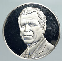 2000 USA President George Walker Bush SUPREME COURT Vintage Silver Medal i91403