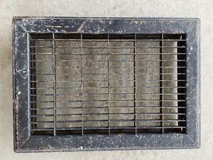 """Vintage Metal Floor Register Heat Grate Vent  14"""" x 9-3/4"""""""