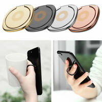 Universal 360° Finger Ring Cell Phone For Holder Stand Magnetic Car Metal Plate