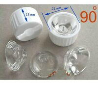 50x Led Lens 90 Degree For 1w 3w Lamp & White Holder