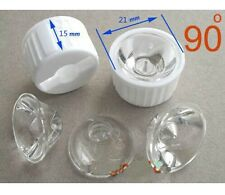 50x Led Lens 90 Degree For 1w 3w Lamp & White Holder