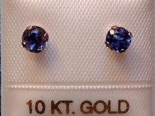 Feinste Iolith Ohrstecker - 4 mm - 10 Kt. Gold - 417 - Ohrringe Brillant Schliff