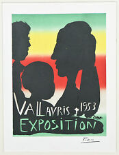 """Exposition Vallauris 1953"" by Picasso Signed Lithograph 10""x7"""