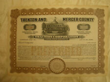 Trenton and Mercer County Traction Corporation  Stock Certificate