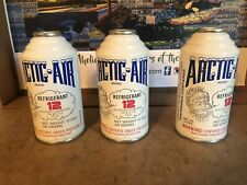 R12 QTY 3  12oz CANS OF ARTIC AIR BRAND R-12 Refrigerant  R 12   FREE SHIPPING