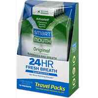 SmartMouth Mouthwash Packets Clean Mint 10 Each (Pack of 2)