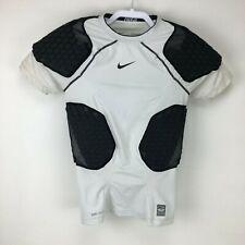 Nike Pro Combat S Padded Compression Shirt Short Sleeve Dri-Fit 451655-102 White