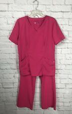 Urbane Ultimate Womens Pink Scrubs Set Size Small Medium