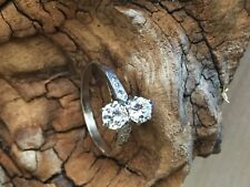 A `quite special`, `Art Deco style` Diamond, Two Stone platinum Ring. reduced!!!