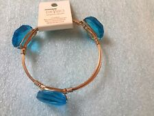 Or Green Stones (You pick only One) One gold base bracelet with Gold, Blue