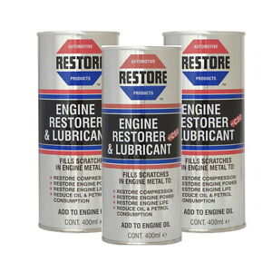 New THE WORLD'S LEADING & ORIGINAL ENGINE RESTORER OIL - AMETECH - 3x400ML CANS