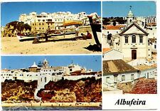 Algarve Portugal Postcard Albufeira Sand Boats Beach Posted 1981 Vintage