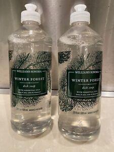 FOUR (4) Bottles Williams Sonoma Winter Forest Dish Soap 20 oz Ea NEW