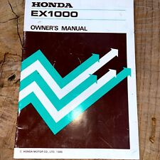 Honda EX1000 Portable Generator Owner Manual Vintage