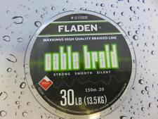FLADEN 150m FISHING BRAID 30lb Black 0.20 Teflon Coated Braided line for Reel