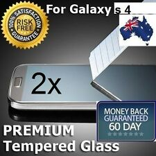 2x 9h Genuine Tempered Glass Film Screen Protector Cover for Samsung Galaxy S4